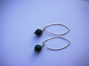 Boucles New en malachite