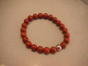 Bracelet jaspe rouge 8 mm