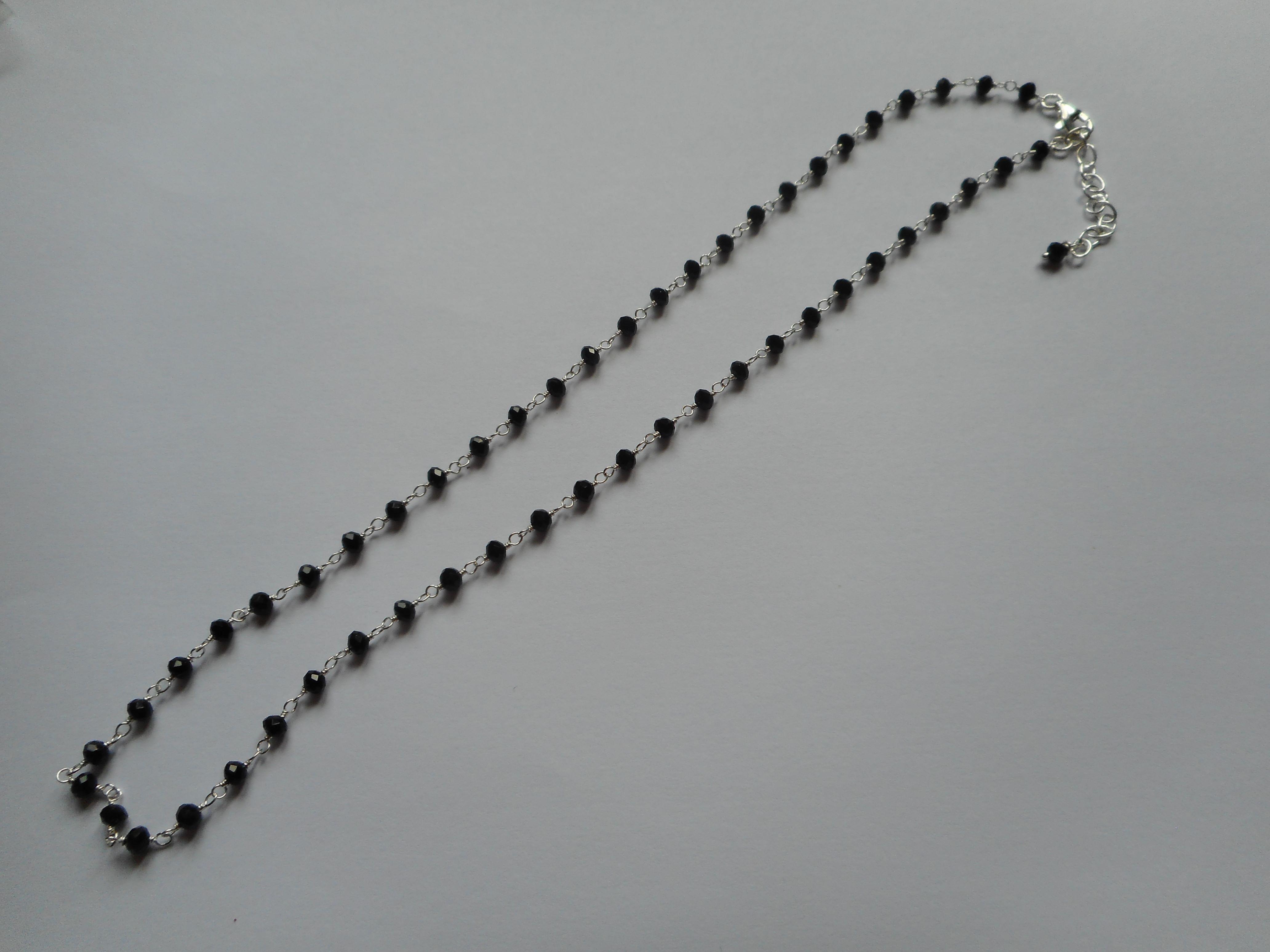 collier en argent noir