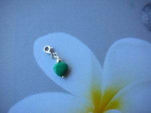 charms coeur en malachite